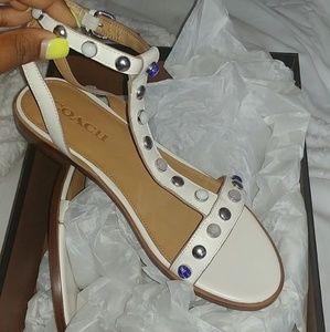 Sadie semi matte calf coach sandals